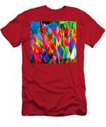 Colorful Leafs Men's T-Shirt (Athletic Fit)