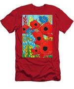 Cornflower Poppies Bluebells Men's T-Shirt (Athletic Fit)