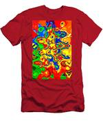 Crazy Day Abstract In Primary Colors  Men's T-Shirt (Athletic Fit)