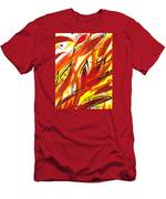 Dancing Lines Hot Abstract Men's T-Shirt (Athletic Fit)