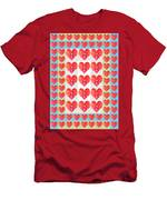 Deeply In Love Cherryhill Flower Petal Based Sweet Heart Pattern Colormania Graphics Men's T-Shirt (Athletic Fit)