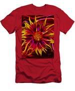 Electric Firewheel Flower Artwork Men's T-Shirt (Athletic Fit)