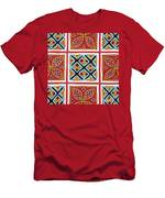 Flower Hmong Embroidery 01 Men's T-Shirt (Athletic Fit)