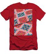 Flower Hmong Embroidery 02 Men's T-Shirt (Athletic Fit)