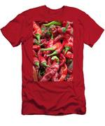 Fresh Red Chili Peppers At Local Street Market In Dunhuang China Men's T-Shirt (Athletic Fit)