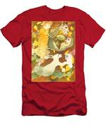 Girl With Rabbits Men's T-Shirt (Athletic Fit)