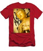 Golden Buddha Statue Men's T-Shirt (Athletic Fit)