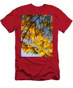 Golden Leaf Cascade Men's T-Shirt (Athletic Fit)