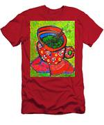 Green Tea In Red Cup Men's T-Shirt (Athletic Fit)
