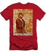 Jedi Master Yoda Digital From Original Coffee Painting Men's T-Shirt (Athletic Fit)