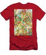 Jiddu Krishnamurti Watercolor Portrait.2 Men's T-Shirt (Athletic Fit)