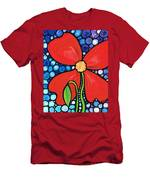 Lady In Red 2 - Buy Poppy Prints Online Men's T-Shirt (Athletic Fit)