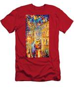 Last Trolley - Palette Knife Oil Painting On Canvas By Leonid Afremov Men's T-Shirt (Athletic Fit)