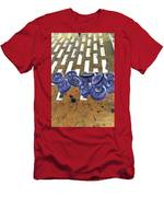 Lug Nuts On Grate Vertical Peach And Purple Men's T-Shirt (Athletic Fit)