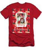 Merry Christmas From An Angel Men's T-Shirt (Athletic Fit)