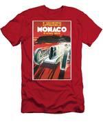 Monaco Grand Prix Vintage Poster Men's T-Shirt (Athletic Fit)