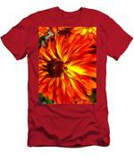 Mostly Orange Dahlia Flower Men's T-Shirt (Athletic Fit)