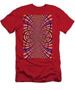 Multicolored Abstract Men's T-Shirt (Athletic Fit)