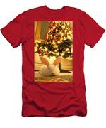 New Zealand White Rabbit Under The Christmas Tree Men's T-Shirt (Athletic Fit)