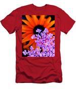 Orange And Lavender Men's T-Shirt (Athletic Fit)