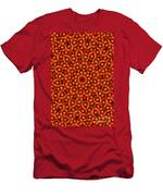 Orange Floral Abstract Men's T-Shirt (Athletic Fit)