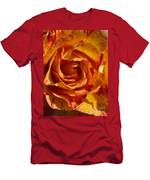 Orange Variegated Rose Men's T-Shirt (Athletic Fit)