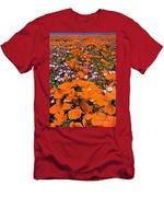 Panorama Califonria Poppies And Hollyleaf Gilia Wildflowers Men's T-Shirt (Athletic Fit)