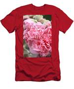 Pink Hollyhock Mother's Day Card Men's T-Shirt (Athletic Fit)