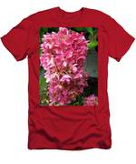 Pink Hydrangea Men's T-Shirt (Athletic Fit)