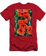 Playful Poppies 5 Men's T-Shirt (Athletic Fit)
