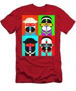 Pop Art People Quattro Men's T-Shirt (Athletic Fit)