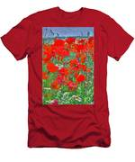 Poppies II Men's T-Shirt (Athletic Fit)