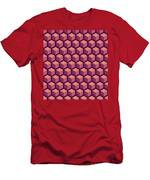 Purple Hexagonal Pattern Men's T-Shirt (Athletic Fit)