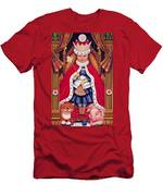 Queen Alice, 2008 Oil And Tempera On Panel Men's T-Shirt (Athletic Fit)