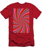Rainbow Swirls Men's T-Shirt (Athletic Fit)