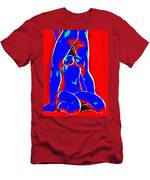 Red And Blue Men's T-Shirt (Athletic Fit)