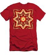 Red And White Patchwork Art Men's T-Shirt (Athletic Fit)