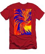 Red Blue Orange Red Yellow Swirl Men's T-Shirt (Athletic Fit)
