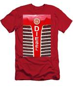 Red Bumper On Vehicle Labeled Diesel Men's T-Shirt (Athletic Fit)