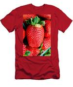 Red Juicy Delicious California Strawberry Men's T-Shirt (Athletic Fit)