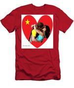 Romantic Kiss Men's T-Shirt (Athletic Fit)
