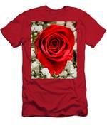 Rose Macro 1 Men's T-Shirt (Athletic Fit)