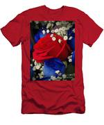 Roses - Red White And Blue Men's T-Shirt (Athletic Fit)