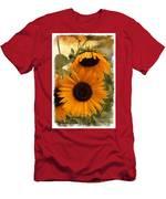Rustic Sunflowers Men's T-Shirt (Athletic Fit)