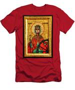 Saint Catherine Of Alexandria Icon Men's T-Shirt (Athletic Fit)