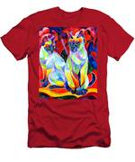 Siamese Sweethearts Men's T-Shirt (Athletic Fit)
