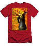 Spanish Flags In Pewter  Men's T-Shirt (Athletic Fit)