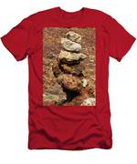 Stacked Rocks In Aruba Men's T-Shirt (Athletic Fit)