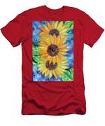 Sun Flower II Men's T-Shirt (Athletic Fit)