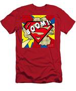 Superman Boom  Men's T-Shirt (Athletic Fit)